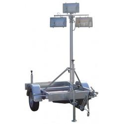 Remorque Mat d'éclairage mobile RMPN 4500.