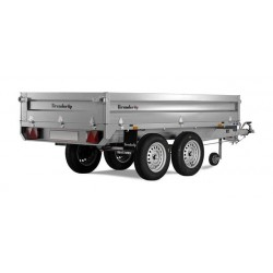 Plateau utilitaire roues dessous PTC 1500 kg Brenderup 4310TB.