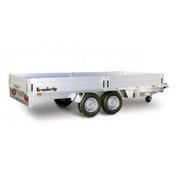 Plateau utilitaire roues dessous PTC 2500 kg Brenderup 5420.