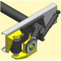 Renfort à air AL-KO pour X250 Essieu Standard L'essieu traverse au milieu des longerons.