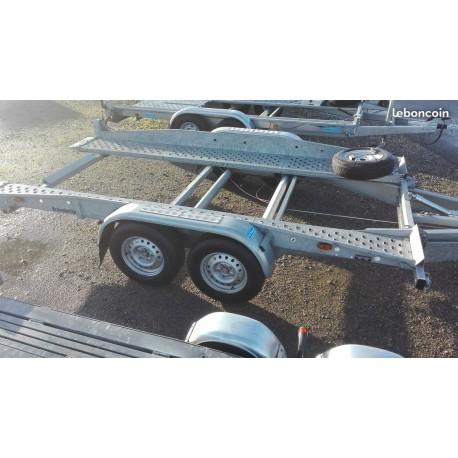 Remorque d'OCCASION porte voiture BRENDERUP PTAC 3000KG