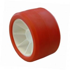 Galet 185 Polyamide Bi-matière rouge Alésage Ø 21mm