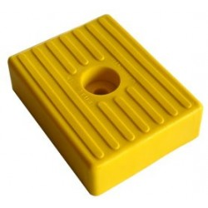 Patin PM 010 jaune Alésage : 1 x Ø 11