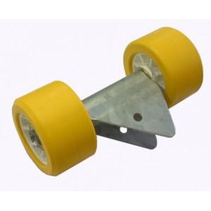 Ensemble 2 Galets MTX jaune MECANOREM monté sur balancier (08009) Encombrement 255 x 120 x 140 Diam-100