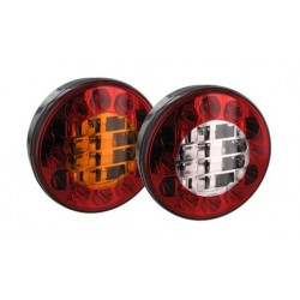 Feu LED rond diamètre 122mm 2 fonctions