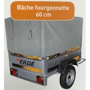 Bâche FOURGONNETTE ERDE 150 à 158 - 143/148 AVEC armature