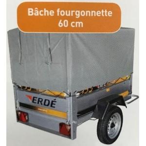 Bâche FOURGONNETTE ERDE 190 à 198 AVEC ARMATURE