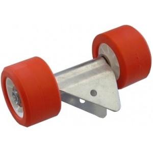 Ensemble 2 Galets MTX rouge MECANOREM monté sur balancier (08009) Encombrement 255 x 120 x 140 Diam-120