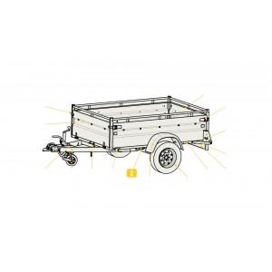 Essieu 750KG AF 4T130 Pour Remorque Utilitaire Robust LIDER 32390