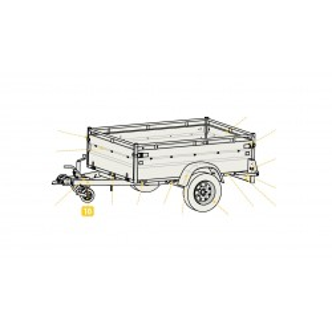 Timon sans boîte de rotule ni traverse de roue jockey pour remorque ROBUST LIDER 38398