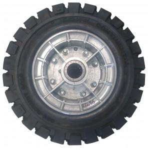 Roue complète 18-7x6 pneu plein CONTINENTAL roulement à aiguilles 45x200